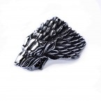 Ocelový prsten - Vlčí Hlava / Wolf GOT (018)