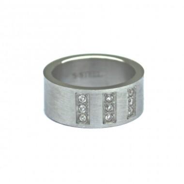 Ocelový prsten - Stones/Matt 3L