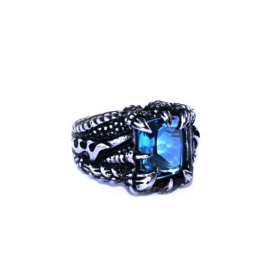 Ocelový prsten - Dračí pařát / Modrý kámen / Dragon Claw / Blue Stone 2020
