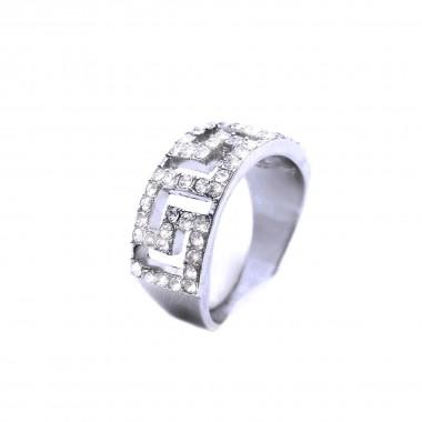 Ocelový prsten - Crystals (3017)