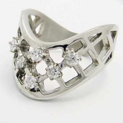 Ocelový prsten 7 Stones - EXEED 281