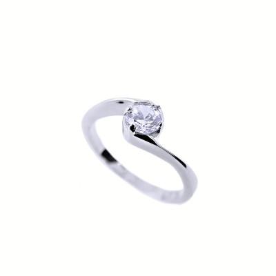 Ocelový prsten Exeed - Lesk / Kamínek (232683)