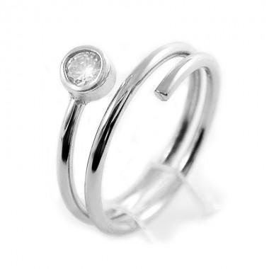 Ocelový Prsten EXEED - Spirála / Kámen (2934)