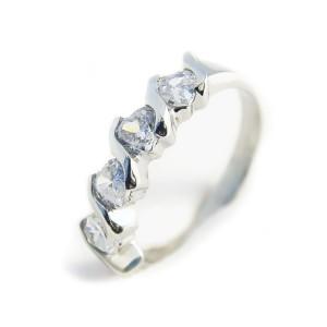 Ocelový prsten EXEED - Kameny / Srdicka (3179)