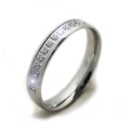 Ocelový prsten - Stones / Shiny (6928)