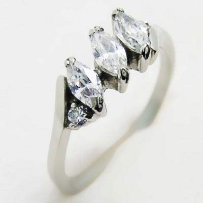 Ocelový prsten EXEED -  stones (3219)