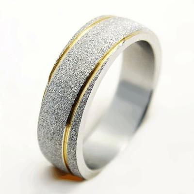 Ocelový prsten EXEED - Gold line