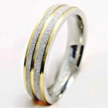 Ocelový prsten - Gold Line II. (3792)
