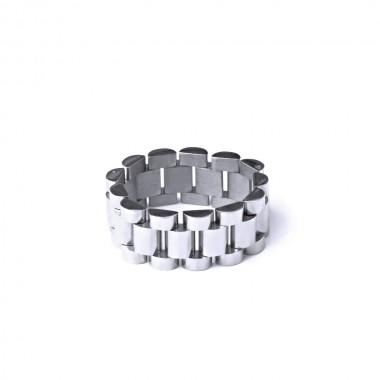 Ocelový Prsten - Rolex Style (40009)