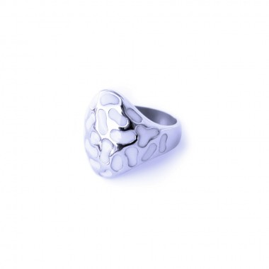 Ocelový prsten - Exeed bílá mozaika / White (3471)