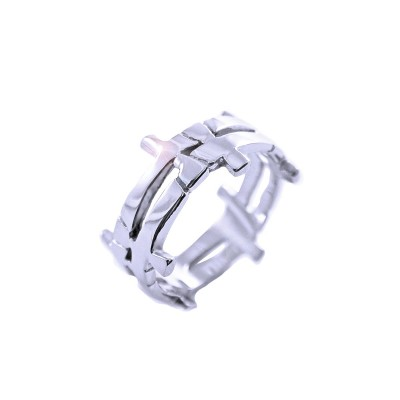 Ocelový prsten EXEED - atyp / Lesk (2520)