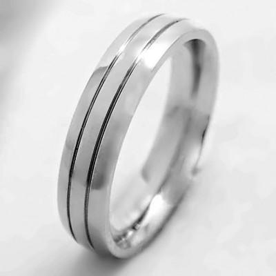 Ocelový Prsten EXEED - Leštěný / Shiny / Lines / 4 mm (6393)
