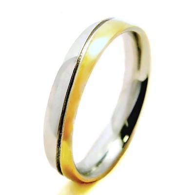 Ocelový Prsten - Bicolour (6390)