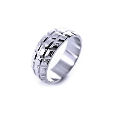 Ocelový prsten EXEED - Vzorek Pneumatiky (32655)