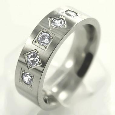 Ocelový prsten - Stones/Matt (UB11.692)