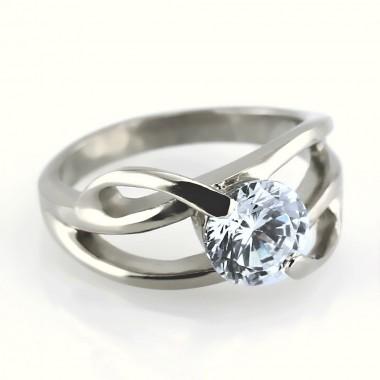 Ocelový prsten - One Stone (6173)