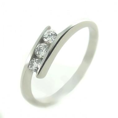 Ocelový prsten - 3 Stones (EX851/M6174)