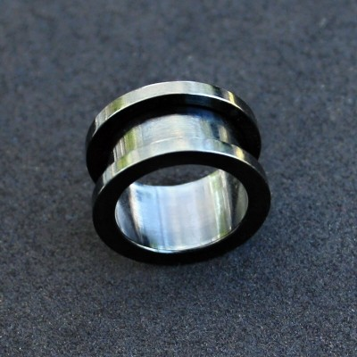Tunel 18 mm STEEL-Black
