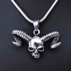 Ocelový přívěsek + řetízek - Ďábel / Devil / Hádě / Snake Chain 3 mm