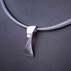 Ocelový náhrdelník PRIM - Přívěsek s křišťálem / Lanka 01
