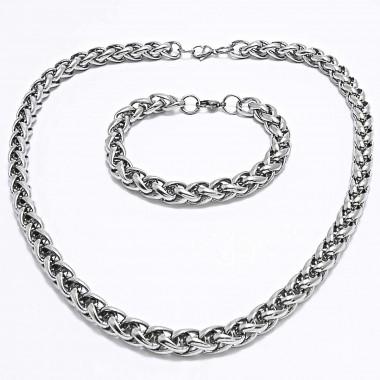 Ocelový náhrdelník + náramek Celtic 1 cm / shiny (7929)