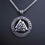Ocelový přívěsek + Řetízek - Valknut Symbol 02 / Celtic chain (019)