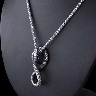 Ocelový přívěsek + Řetízek - Had / Snake (021)