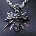 Ocelový Přívěsek - Vlčí amulet / Wolf Amulet + Řetízek Celtic (21)