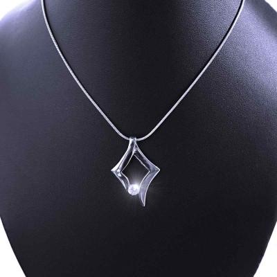 Ocelový přívěsek EXEED s kamínkem + Řetízek hádě 1 mm (2878)