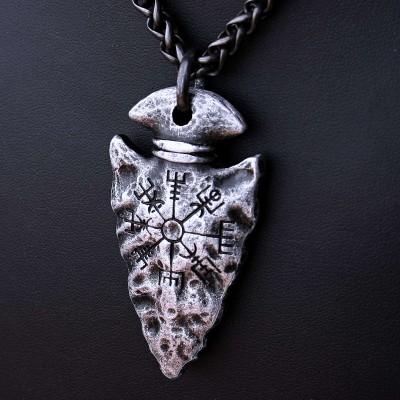 Ocelový náhrdelník - Odinovo Kopí / Vegvisir Symbol (2020)