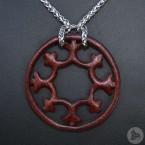 Ocelový Náhrdelník - Liliový kruh / Mahagon / Řetízek Celtic