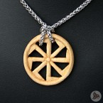 Ocelový náhrdelník - Přívěsek Kolovrat (Lípa) 01 + Řetízek Celtic