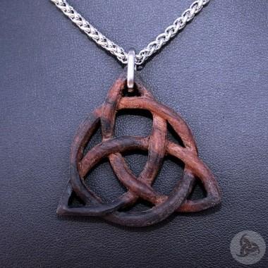 Ocelový náhrdelník - Přívěsek Triquetra (Eben Amara) 01 + Řetízek Celtic